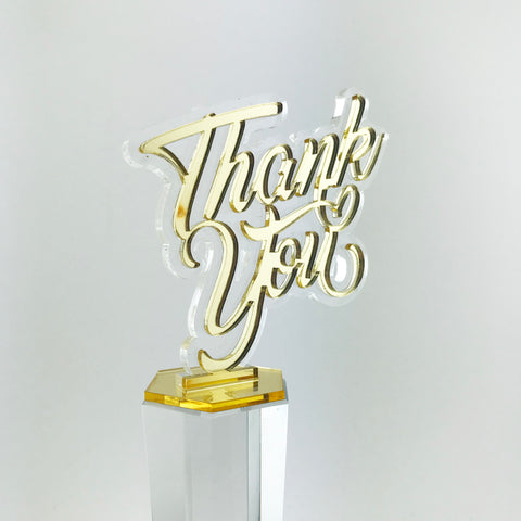 Appreciation / Recognition Crystal Trophy