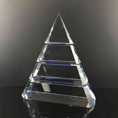 "9"" Accolade Pyramid Crystal Award"