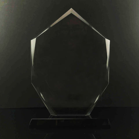 "9"" Imperial Jewel with Black Base Crystal Trophy"