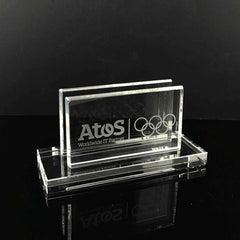 "2"" Premium Crystal Name Card Holder"