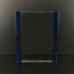 "8"" Blue Tablet Crystal Trophy"
