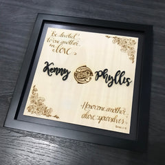 Framed Wooden Plaque