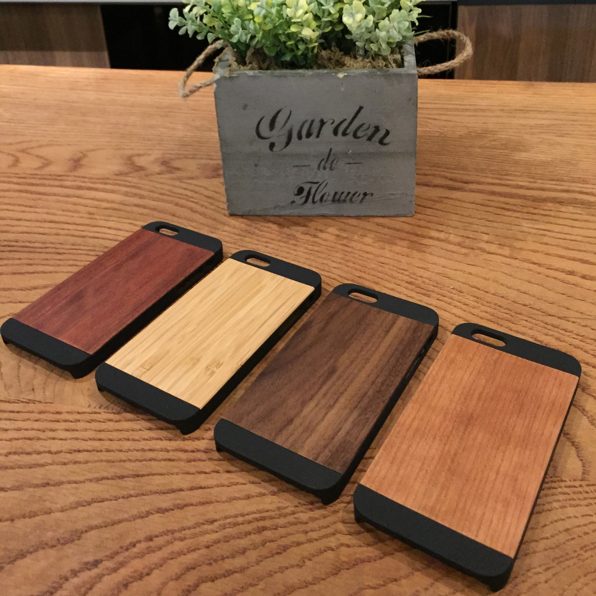 Plain Wooden Cover for iPhone 5, 6 & 6plus (4 Wood Type)