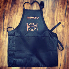 Custom Black Adult Apron