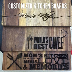 Custom Wooden Kitchen Board (6 Designs)