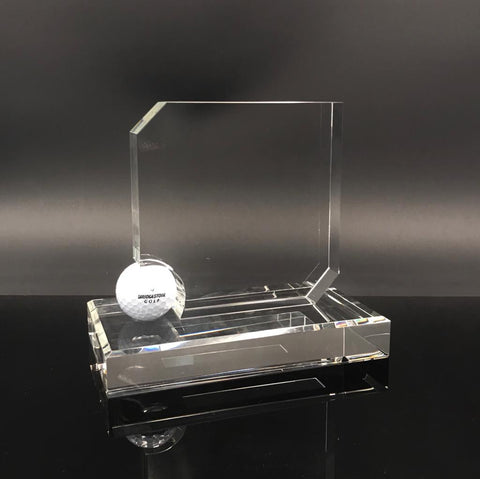 "7"" Golf Crystal Award"