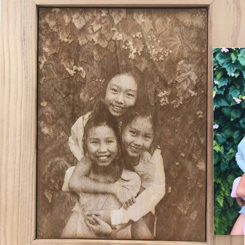 Image Engraving on Wooden Frame