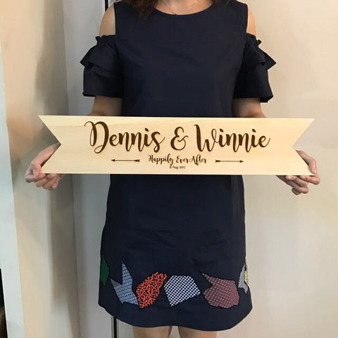 Wedding Wooden Banner