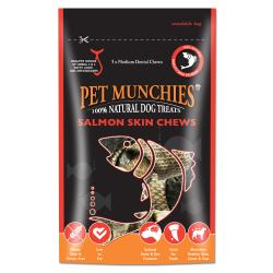 Pet Munchies 100% Natural Medium Salmon Skin Chews 90g