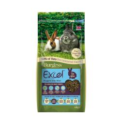 Burgess Excel Rabbit Junior & Dwarf with mint 4kg