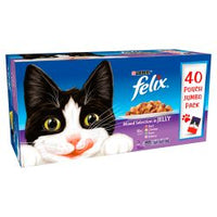 Felix Pouch Mixed Selection in Jelly 40 pack