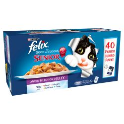 Felix Pouch As Good As It Looks Senior Mixed Selection in Jelly 40 pack
