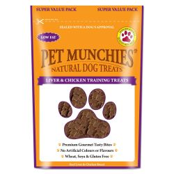 Pet Munchies Natural Liver & Chicken Training Treats Super Value Pack 150g