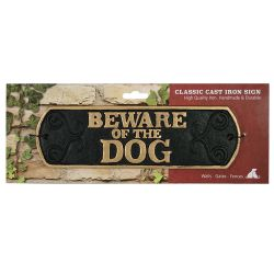 Beware Of The Dog Cast Iron