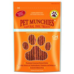 Pet Munchies 100% Natural Wild Salmon & Sweet Potato Dental Sticks 90g