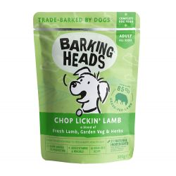 Barking Heads Chop Lickin Lamb Pouch 300g x 10 - Pet Products R Us