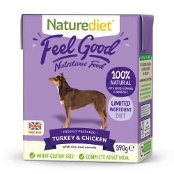 Naturediet Feel Good Turkey & Chicken 390g x 18