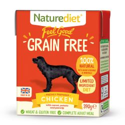 Naturediet Feel Good Grain Free Chicken 390g x 18