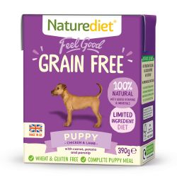 Naturediet Feel Good Grain Free Puppy 390g x 18