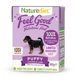 Naturediet Feel Good Puppy  8 x 200g