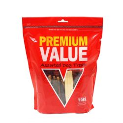 Premium Value Dog Moist Treats 1.5kg