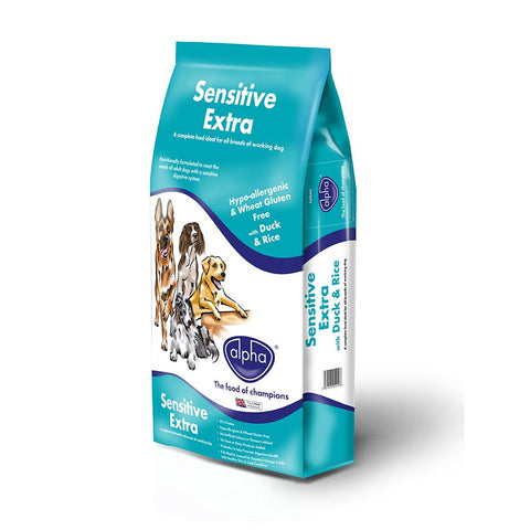 Alpha Sensitive Extra With Duck & Rice 15KG - Pet Products R Us