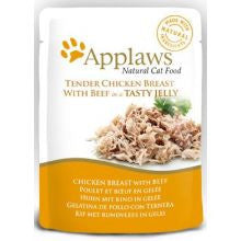 Applaws Pouch Jelly Chicken & Beef 16 x 70g - Pet Products R Us