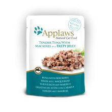 Applaws Pouch Jelly Tuna & Mackerel 16 x 70g - Pet Products R Us