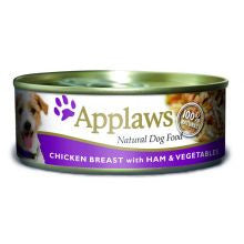 Applaws Chicken & Ham 16 X 156g Tins - Pet Products R Us