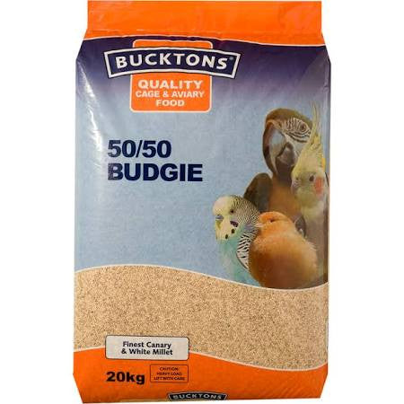 Bucktons 50/50 Budgie 20kg - Pet Products R Us  - 1