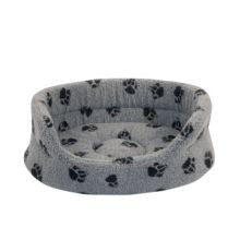 Danish Design Fleece Grey Slumber Bed - Pet Products R Us