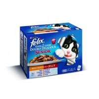 Felix As Good As It Looks Doubly Delicious Senior Meat Variety 100g X 12