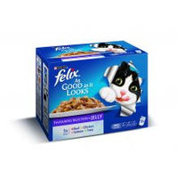 Felix As Good As It Looks Favourites Selection 100g x 12 - Pet Products R Us