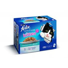 Felix As Good As It Looks Kitten Fish Selection 100g x 12 - Pet Products R Us