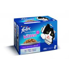 Felix As Good As It Looks Kitten Mixed 100g x 12 - Pet Products R Us