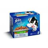 Felix As Good As It Looks Vegetable Selection 100g x 12 - Pet Products R Us