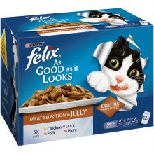 Felix As Good As it Looks Meat Selection 100g x 12 - Pet Products R Us