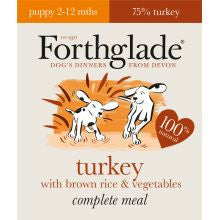 Forthglade Complete Meal Puppy Turkey with Brown Rice & Vegetables 395g x 18