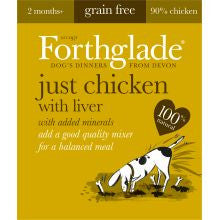 Forthglade Natural Menu Grain Free Chicken With Liver 18 x 395g