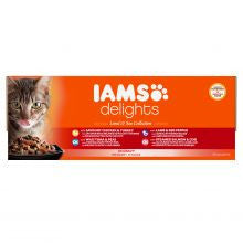 Iams Delights Land & Sea Collection in Gravy 85g x 48 - Pet Products R Us