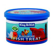 King British Bloodworm Fish Treat 7g - Pet Products R Us