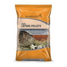 Marriages Specialist Foods Quail Layers Pellets 7.5kg - Pet Products R Us