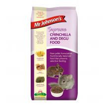 Mr Johnsons Supreme Chinchilla & Degu Pellet 900g - Pet Products R Us