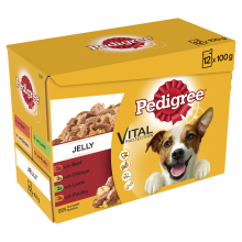Pedigree Pouch in Jelly Favourites 100g x 12 - Pet Products R Us