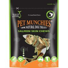 Pet Munchies 100% Natural Large Salmon Skin Chews - Pet Products R Us