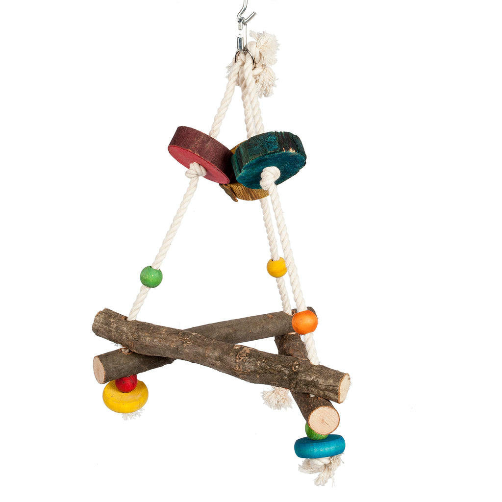Triangle Adventure Swing Parrot Toy