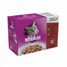 Whiskas Pouch in Jelly Meat Selection 100g x 12 - Pet Products R Us