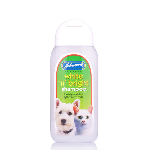Johnsons White 'n' Bright Shampoo 200ml - Pet Products R Us
