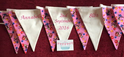 Personalised Birth Bunting