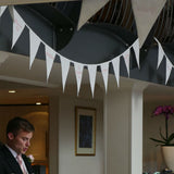 Ivory wedding bunting at Donnington Valley Hotel wedding breakfast
